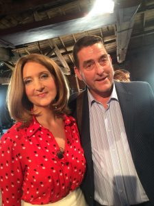 With Victoria Derbyshire at Manchester